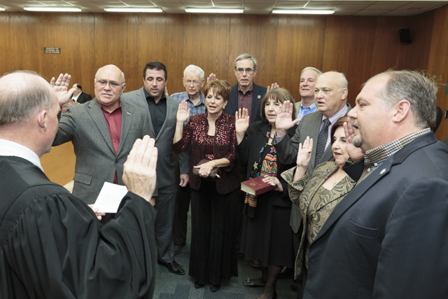 At Large Members sworn in by Justice Greg Guidry 3-5-16 for web