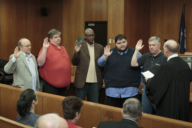 District 1 Members sworn in by Justice Greg Guidry for web