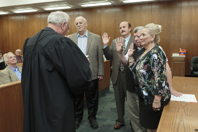District 2 Members sworn in by Judge Johnny Lee for web