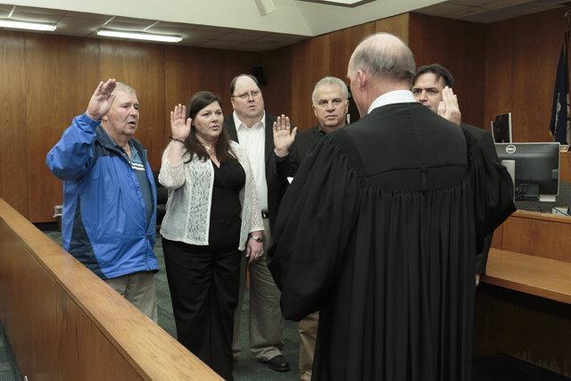 District 3 Members sworn in by Justice Greg Guidry for web