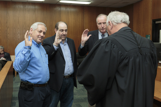 District 4 members sworn in by Judge Johnny Lee for web