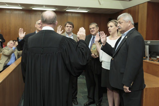 District 5 Members sworn in by Justice Greg Guidry for web